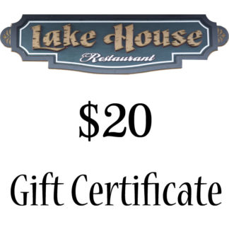Lake House Restaurant $20 Paper Gift Certificate - Buy It Now